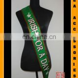 100% Polyester satin sash for promotion