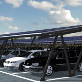 Impact Resistant Carport Solar Pv Mounting With Aluminum Frame