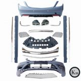 KM body kit for MB S-class W222 upgrade S65 AMG bumper auto parts front bumper rear bumper side skirts and exhaust tips