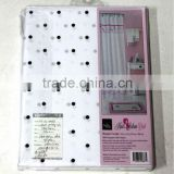 WHOLESALE GREAT HAIR SALON DOT BUTTERFLY SHOWER CURTAIN MADE IN CHINA