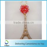 Fashionable Metal Tower Pendant design for key chain, bags, clothings, belts and all decoration
