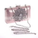 Sunflower Rhinestone Hard Shell Small Box Shape Clutch Purse Party Handbag Evening Bag for Women