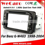 Wecaro WC-MB7507 Android 4.4.4 indash for mercedes g w463 car radio player 1998 - 2004 TV tuner