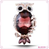 Creative New Female Blue Acrylic Stone Cute Owl Brooch Sweater Jewelry                                                                         Quality Choice
