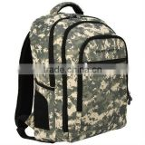 Black military Pattern Laptop Padded Compartment backpack school bags