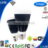 10w RGBW WiFi Led E27 E26 B22 New Bulb Smart Home Control System iPhone Android Smart App Home Lights Construction