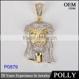 Custom 925 sterling silver iced out hip hop jewelry gold plated religious pendants