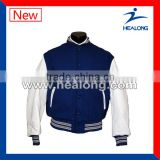white blues plus size varsity jacket