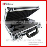 Aluminum Lockable Gun Case Metal Carrying Cases Aluminum Boxes UK(Key and Lock Combo Option)