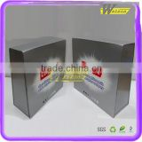 Promotional toothpaste cardboard window gift box with transparent blister interior