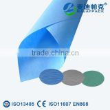 Medical wrapping crepe paper white green blue color for surgical