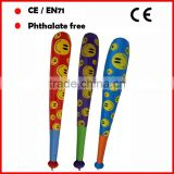 smile face inflatable baseball bat for kids