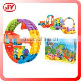Colorful train intellect plastic building block toy