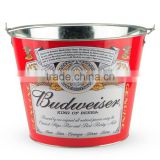 full color printed galvanized tin ice bucket / metal beer cooler