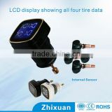 0-116 Psi LCD display tire pressure sensor kits with 2 years lifetime, Zhixuan tpms sensor for opel