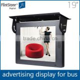 Flintstone 19'' car advertising screen, advertising screen in car, bus led display screen