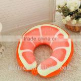 Super Soft Wholesale KIWI Fruit U Shape Neck Pillow For Decorative/Fruit Neck Pillow For Travel