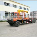 Dongfeng 10 wheel 8 ton truck with crane used in germany