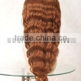 #350 18 inches Body wave human hair lace wigs accept customer order