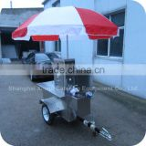2014 Environment-friendly Manual Frozen Yogurt Tea Drinks Display Showcase Cart Kiosk XR-CC120 A