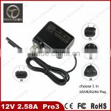 Multifunctional 12v 2.58a for microsoft surface pro 3 power adapter notebook ac adapter wholesales
