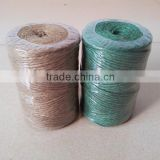 twisted natural Jute Twine,3ply,75M natural color jute twine,2mm