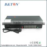 1-channel video+audio+data+Ethernet+telephone+switch value fiber optic video converter
