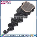 7A Brazilian virgin Hair Unprocessed Virgin Hair Loose Wave Curl Human Hair Lace closure