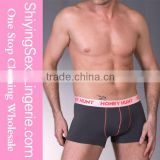 Hot Sale Sexy Grey Healthy Bamboo Fiber Trunks Mens Boxer Briefs