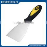 3'' Carbon Steel Flexible Scraper with Plastic Handle , Plastic Putty Knife building construction tools and equipment