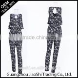 China manufacturer high quality long pants plus size sexy one piece women jumpsuit for sale