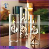 home decoration wedding decor tall glass candle holders                                                                         Quality Choice