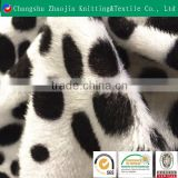 Polyester warp knitting short hair super soft velboa printed non slip fabric with PVC dotted plastic dripping