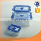 microwave use borosilicate glass food storage container 420ml/1300ml/2700ml lid with hole