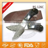 Fixed blade damascus mini damascus utility knife