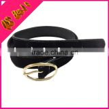 2014 New Black Suede Leather Belt For Women