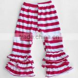 Bulk Wholesale Purple Stripe Polka baby legging tight girl baby clothing kids ruffle pants