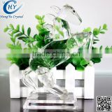 home decoration art crystal horse glass crafts