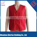2015 Red color man Sleeveless cheap safety vest, work vest