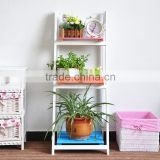 Ladder shelf wood flower rack solid wood flower shelf on sale