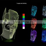 3D Optical Night Light Double-face 7 RGB Light Colors 10 LEDs AA Battery or DC 5V Mixed Lot