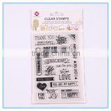 children's toy clear stamp wholesale silicone rubber stamp tansparent clear stamp