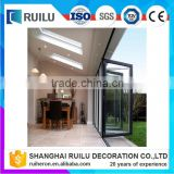 China gold supplier Popular classical style exterior glass accordion folding door