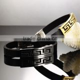 Latest hot sale fashion leather bangle bracelet jewelry gold plated charms bangle jewelry