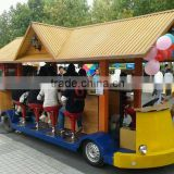 New amusement park 15 seats beer car electric shuttle bus 48V / 3500W electric sightseeing car for sale
