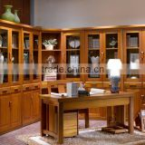 China New Innovative Product Teak Walnut Solid Wood Bookcase Wall Units