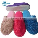 Customized cheap winter slipper socks with rubber sole