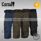2015 Wholesale product 100% polyester breathable material mens cargo shorts with great price