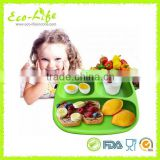 Food Grade Silicone Baby Table Mat With Bowl, Silicone Baby Dinning Mat
