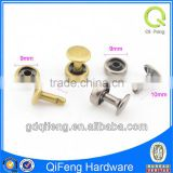 wholesale low price hardware fittings brass rivets for leather handbag